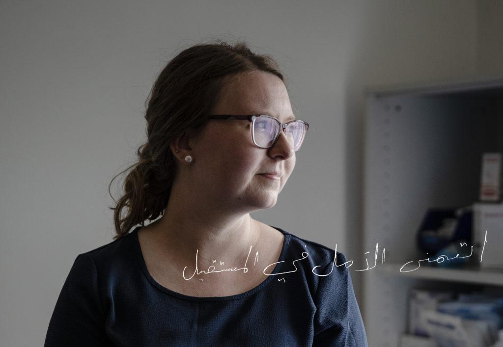 Lääkäri Emilia Holmström työvuoronsa jälkeen Global Clinicilla