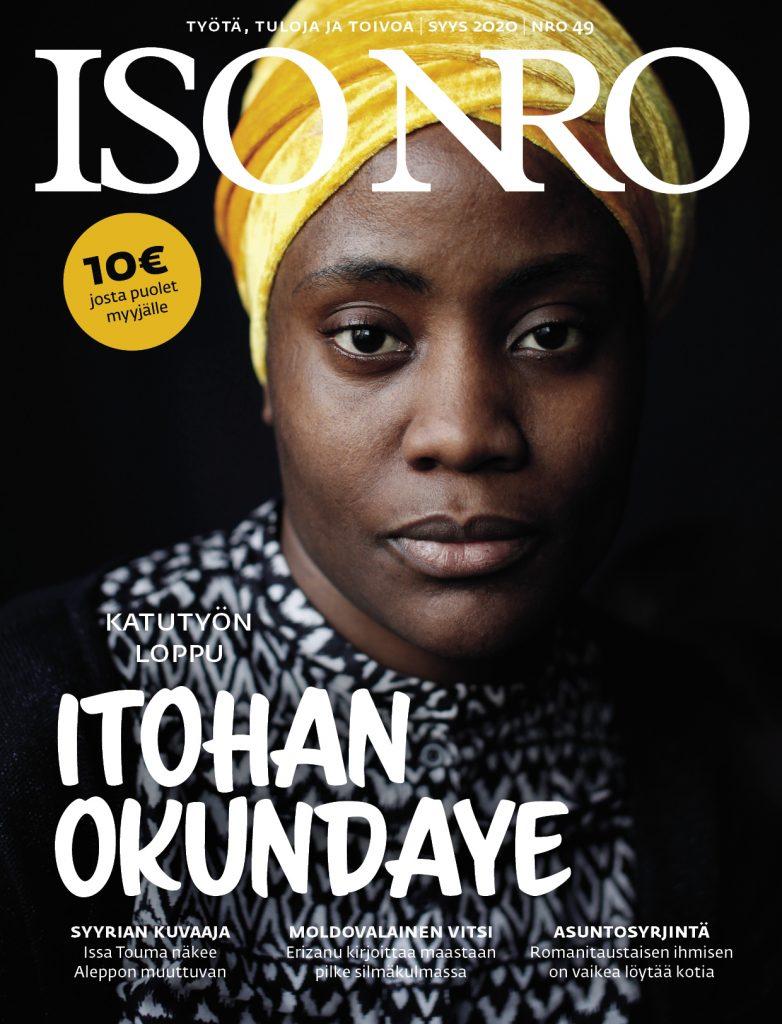 Iso Numero #49, kannessa Itohan Okundaye